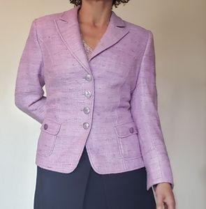 Basler Black Label lavendar silk tweed blazer EUC